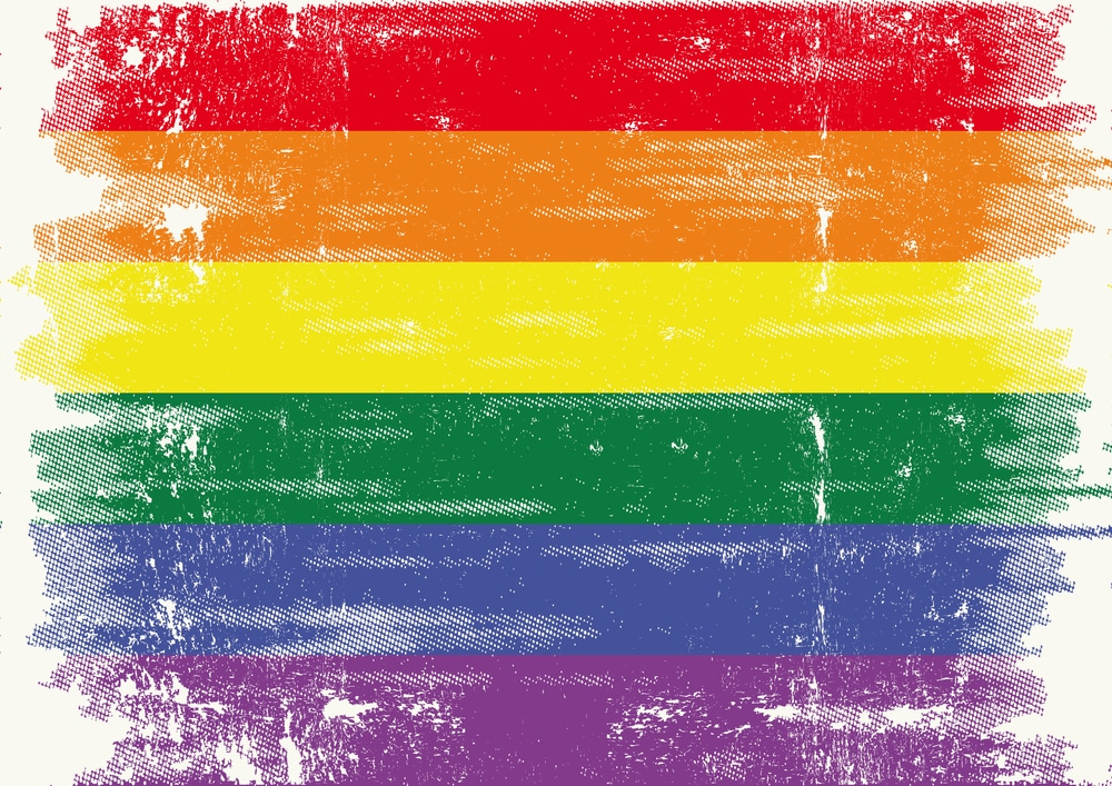 bigstock The Gay Flag With A Grunge Tex