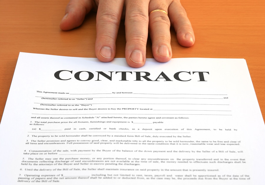 bigstock Contract