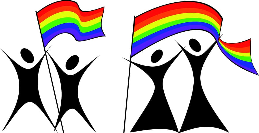 bigstock Gay Couples With A Flag eps