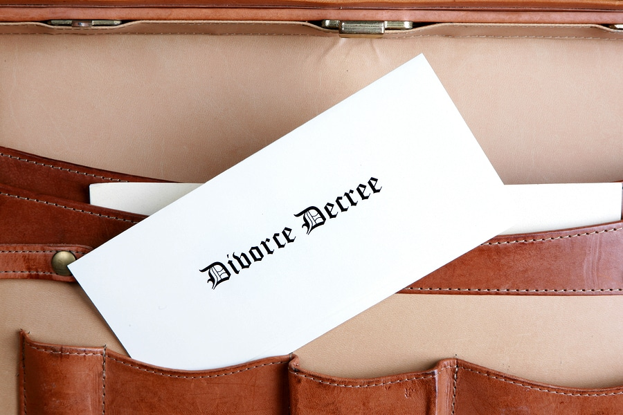 bigstock Divorce Document In A Leather
