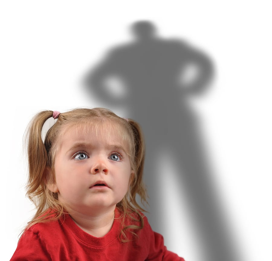 bigstock Little Girl And Scary Shadow O