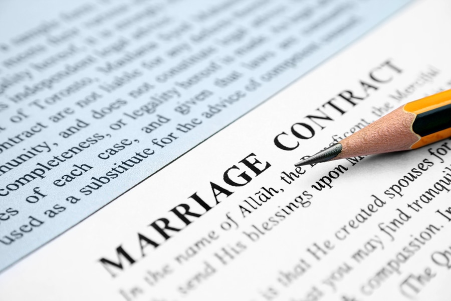 bigstock Marriage contract