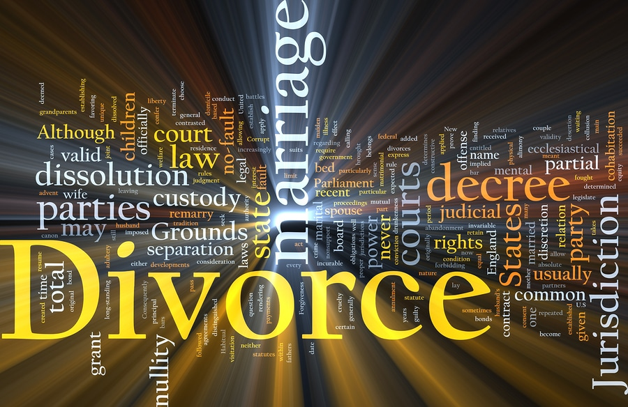 bigstock Divorce Word Cloud Glowing