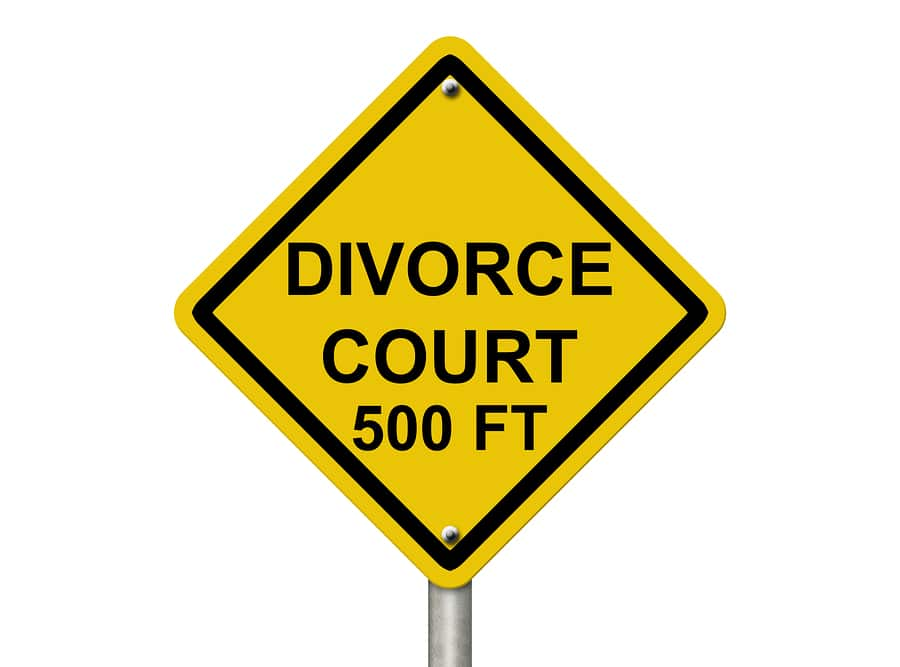 bigstock Heading For Divorce Court