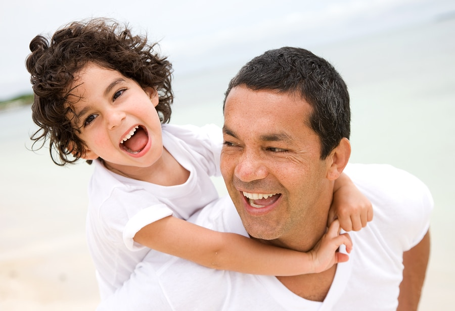 bigstock Father And Son Smiling