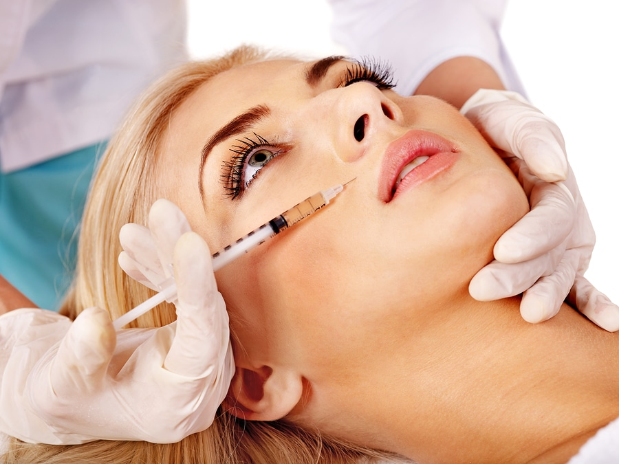 bigstock Doctor woman giving botox inje