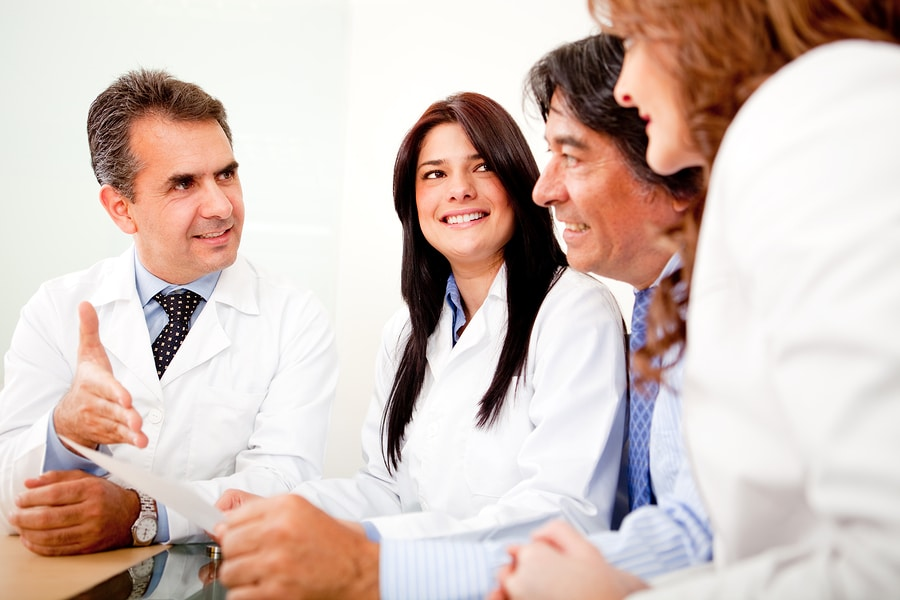 bigstock Group of doctors in a meeting