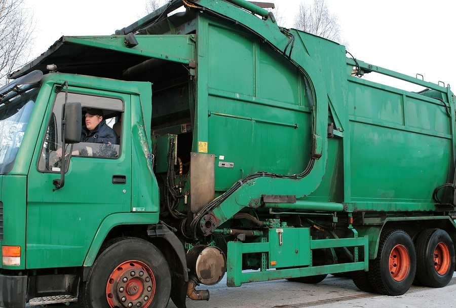 bigstock Old Green Garbage Truck
