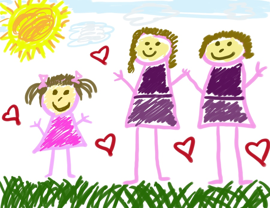 bigstock Young Girl S Drawing Of Her Fa