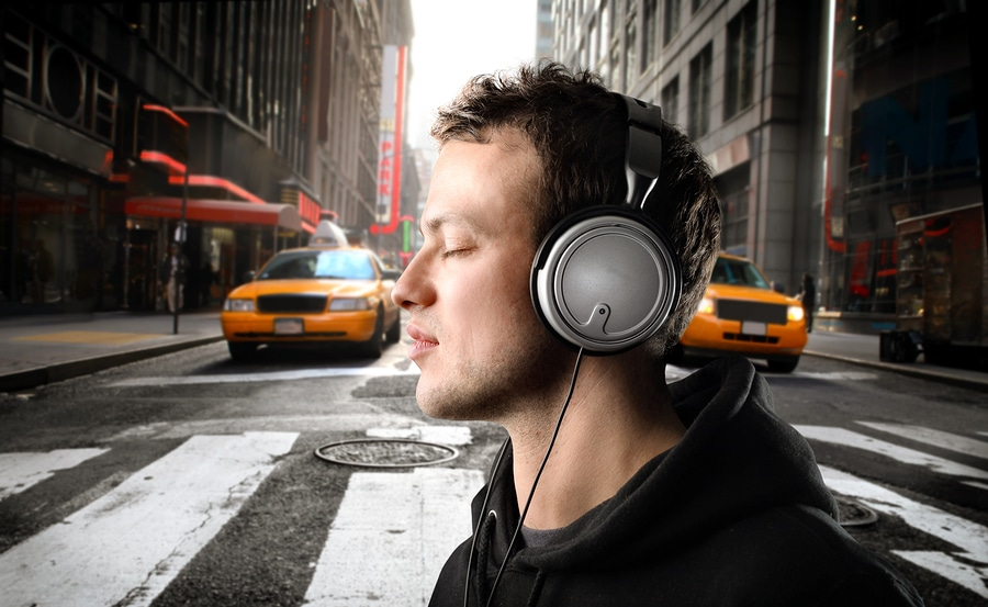 bigstock Young man listening to music o