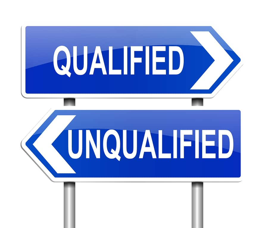 bigstock Qualified Or Unqualified