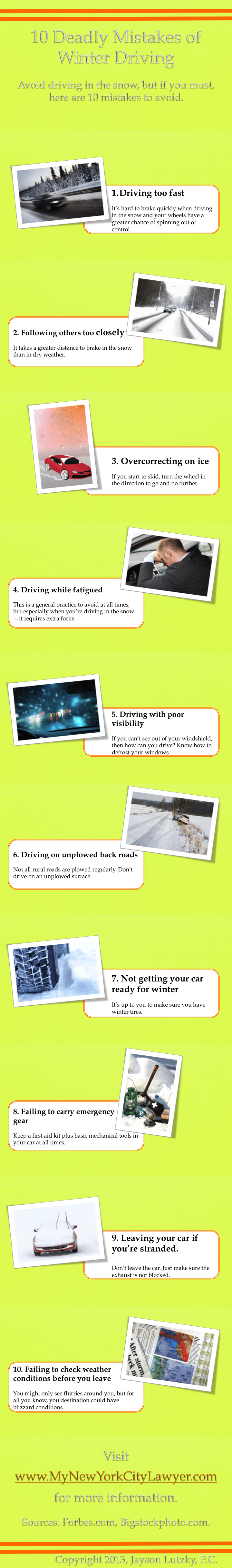 Winter Driving accidents Infographic