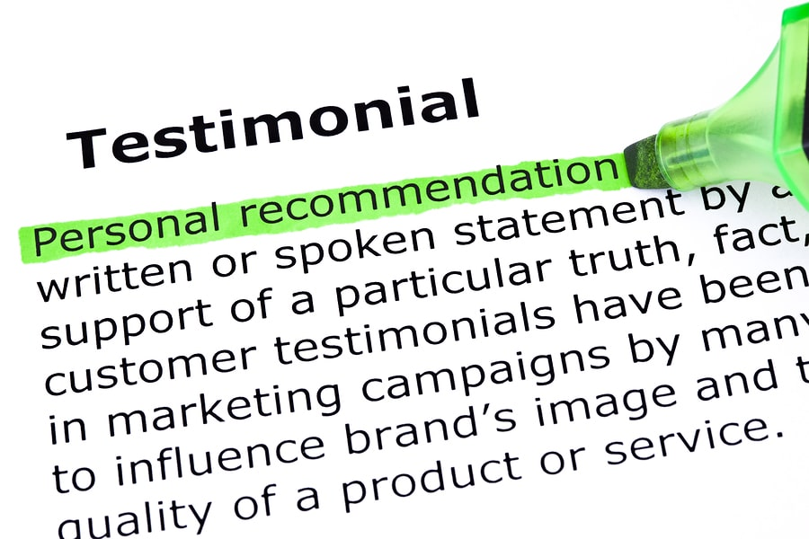 bigstock Testimonial Definition