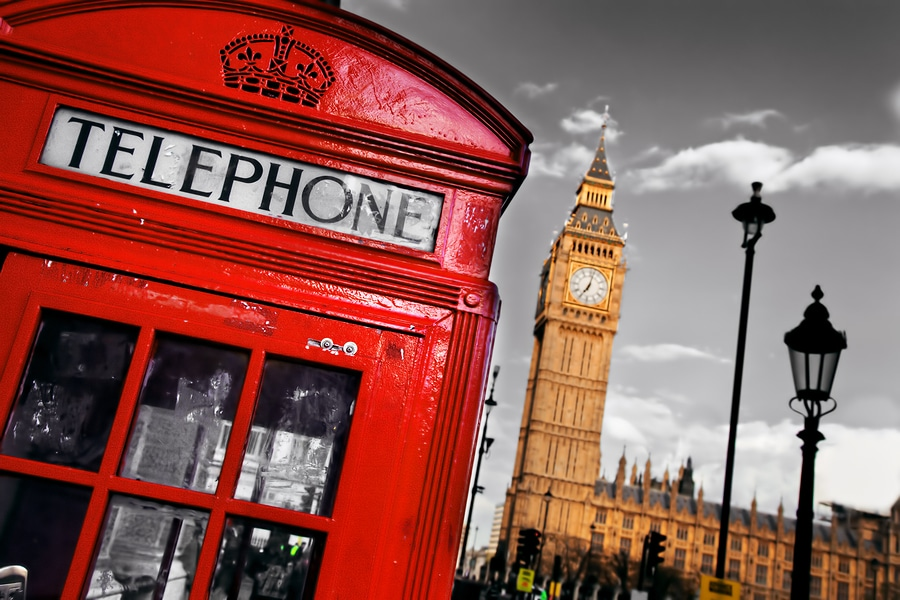 bigstock Red telephone booth and Big Be