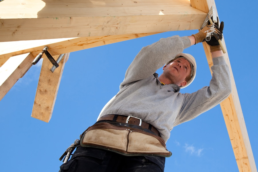 bigstock carpenter at work with wooden