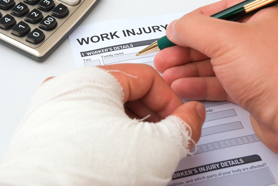 bigstock Filling Up A Work Injury Claim
