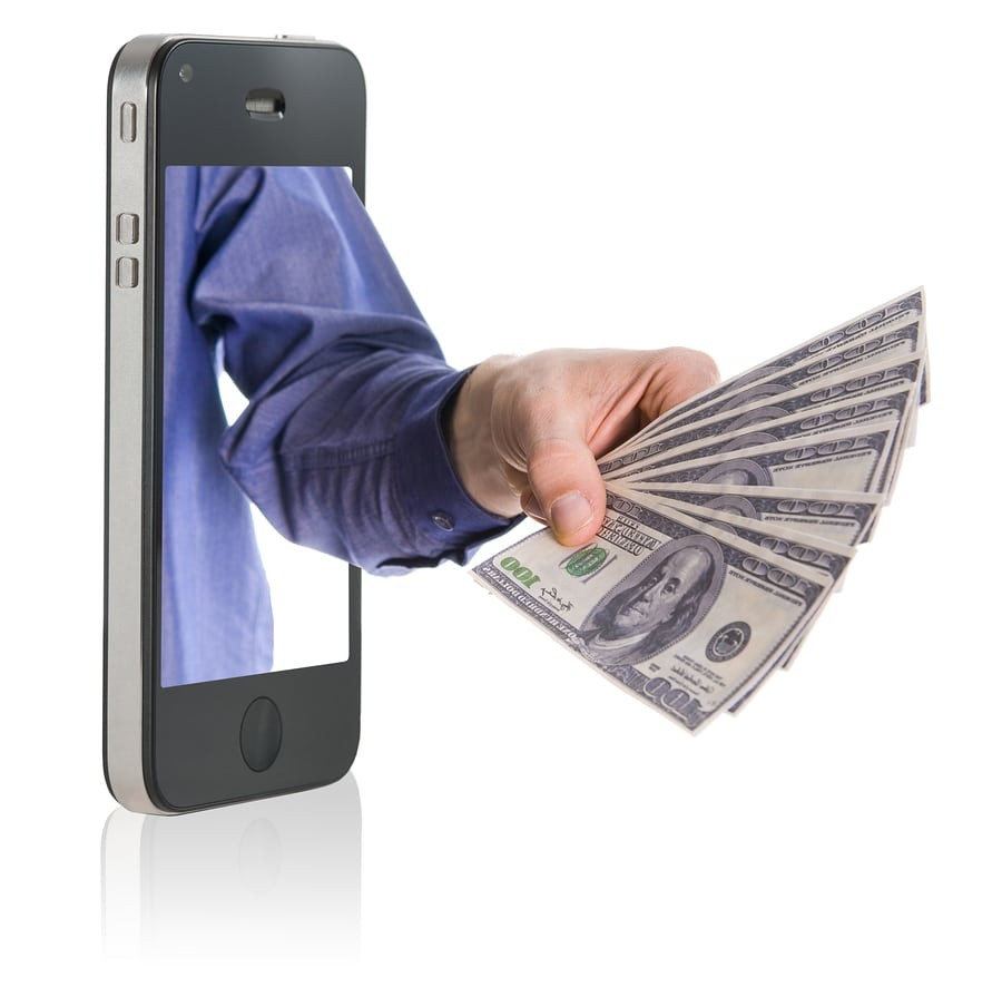 bigstock Giving Money Over Smart Phone