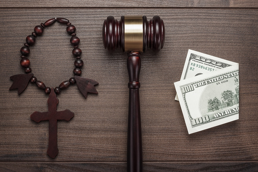 bigstock wooden cross gavel and money o