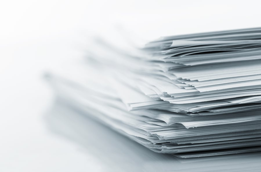bigstock Stack of white papers