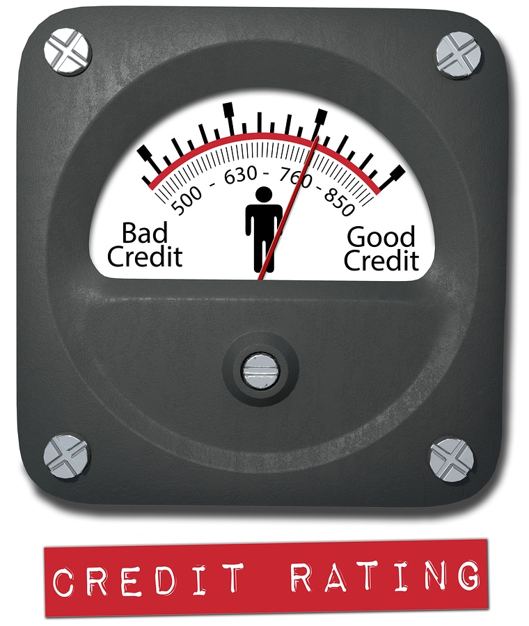 bigstock Meter measures good credit rat