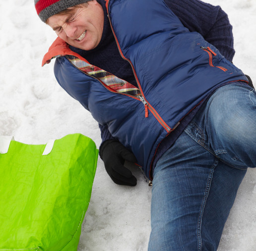 Man cannot sue for injury resulting from fall in snow and ice