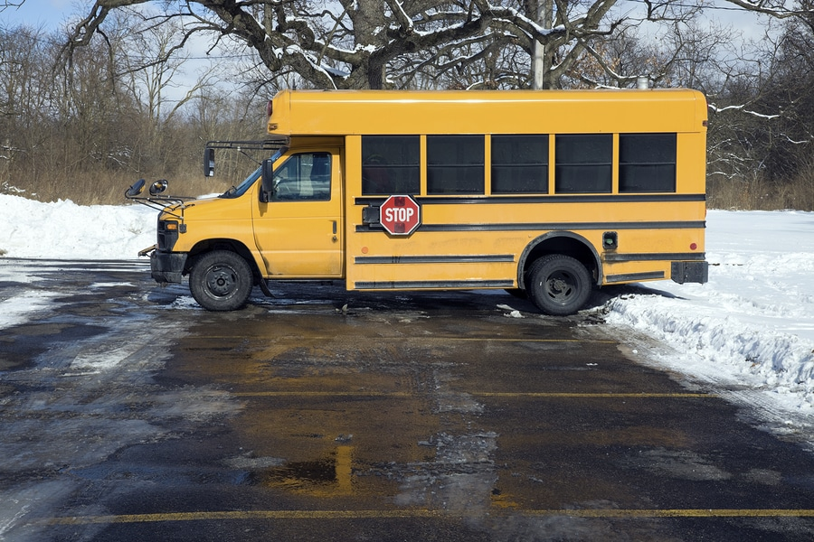 bigstock Small School Bus On The Parkin
