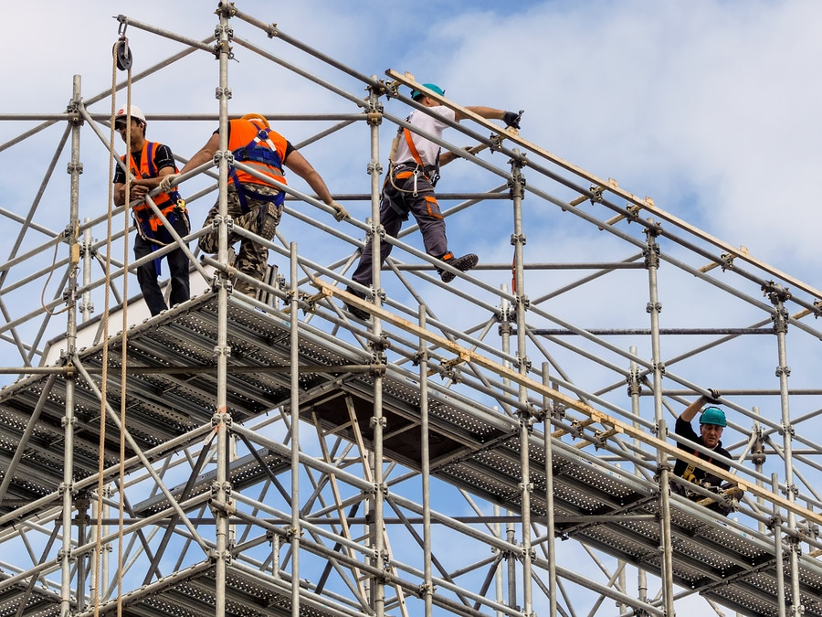 bigstock construction worker on a scaff