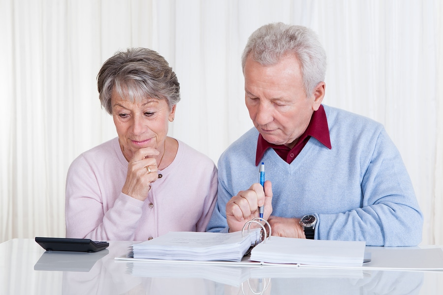 bigstock Stressed Senior Couple Calcula