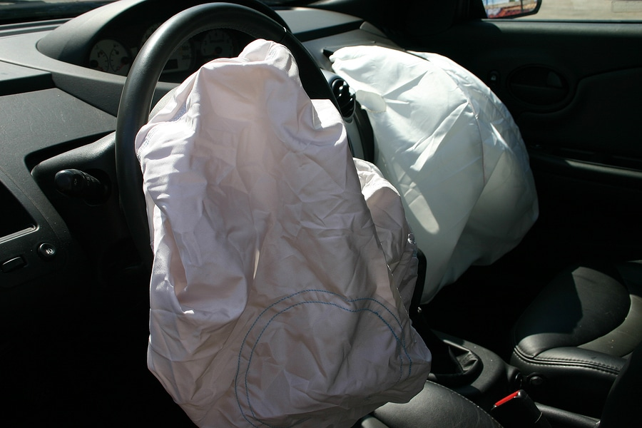 bigstock airbags deployed in a hit and