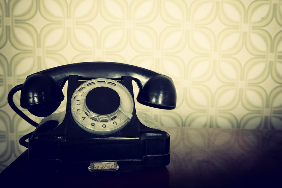 bigstock vintage old telephone black r