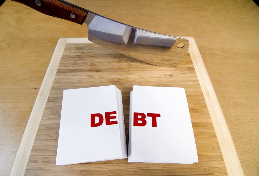 bigstock Cutting Debt