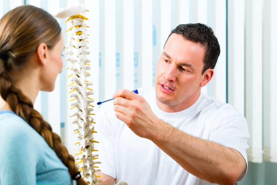 bigstock Physiotherapist in his practic