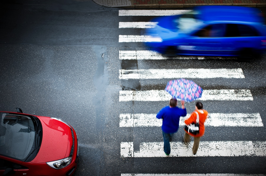 bigstock Pedestrian Crossing With Car
