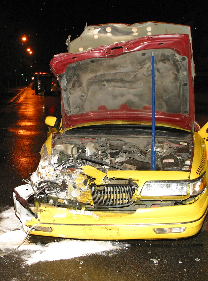 bigstock Wrecked Taxi Cab