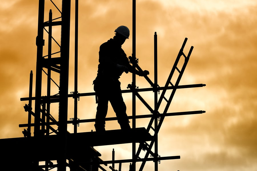bigstock silhouette of construction wor