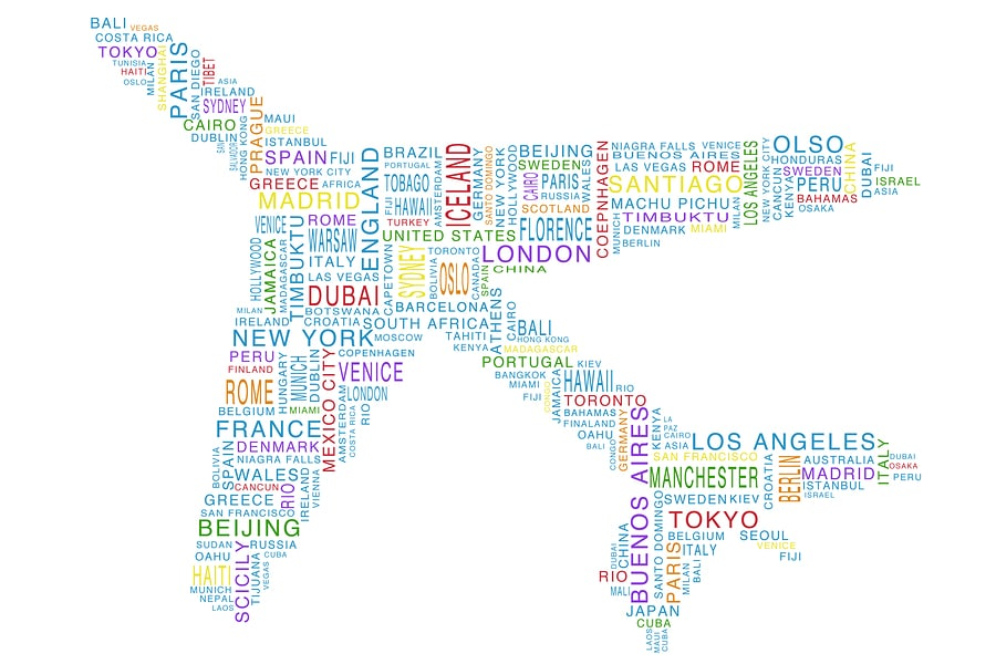 bigstock Airplane Shaped Word Cloud