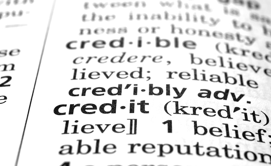 bigstock Credit Defined