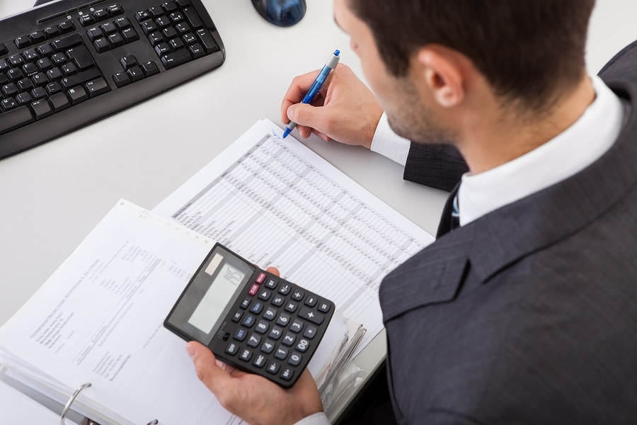 bigstock Accountant Working At The Offi