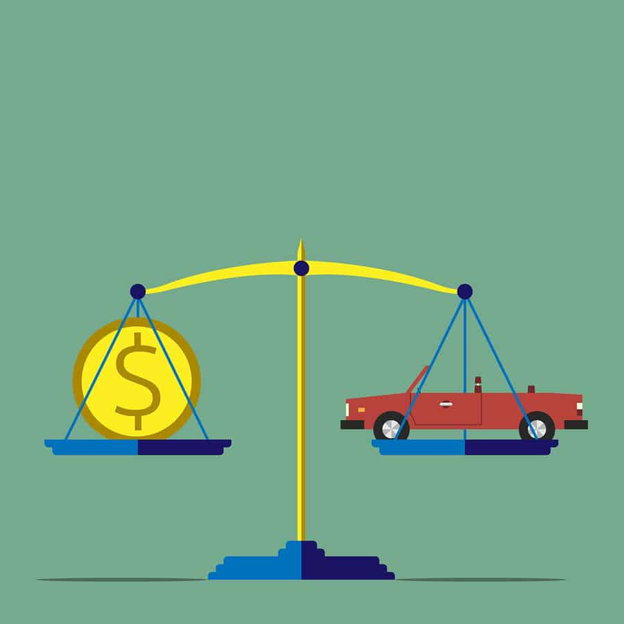 cost of car accidents concept