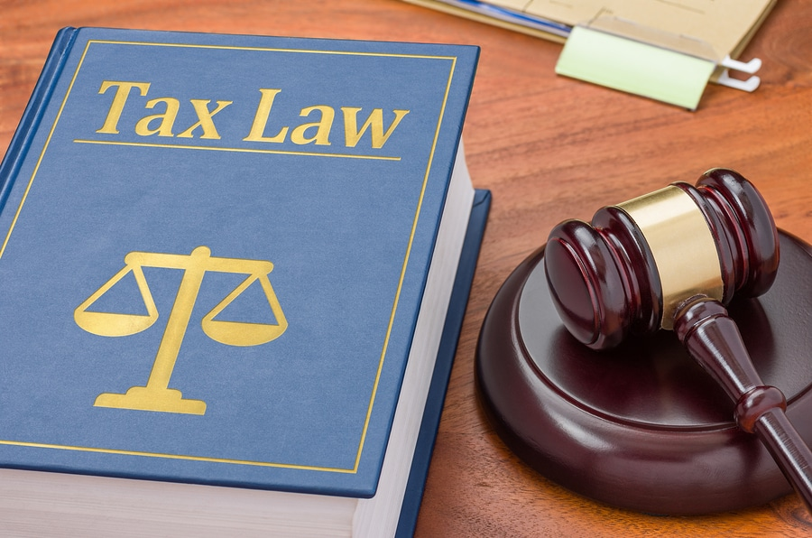 bigstock A Law Book With A Gavel Tax