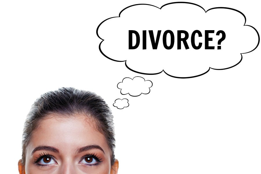 bigstock Woman With Thought Bubbles divorce