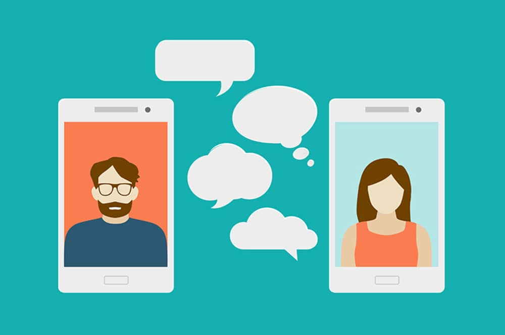bigstock Concept of a mobile chat or co