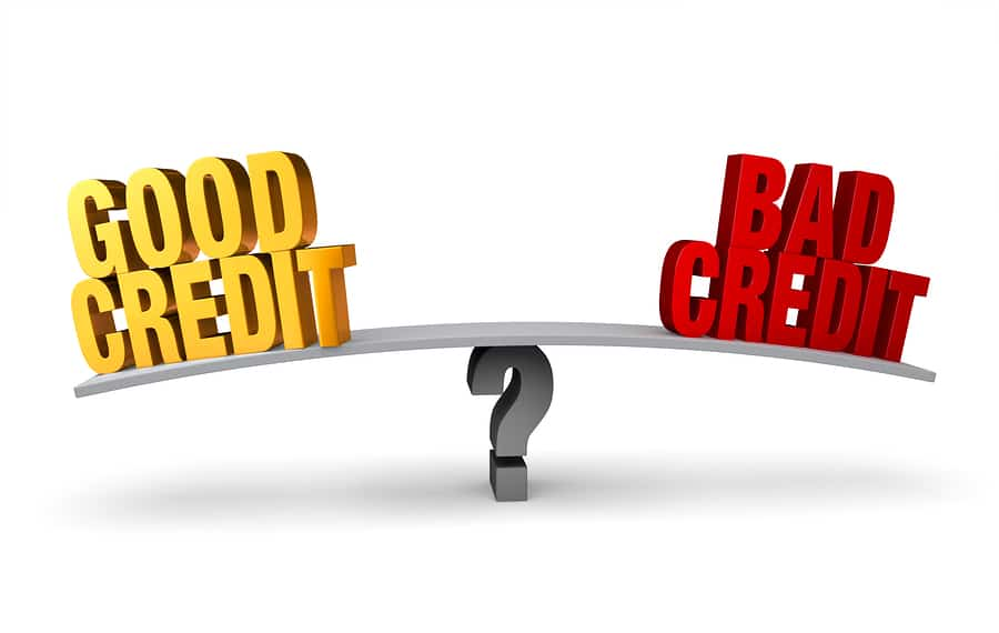 bigstock Good Credit Versus Bad Credit