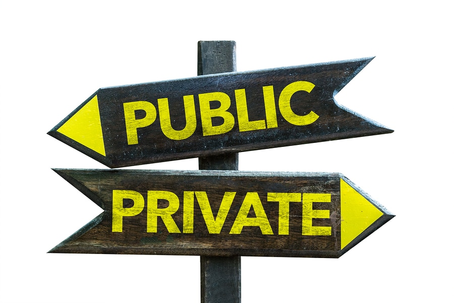 public and private for divorce records