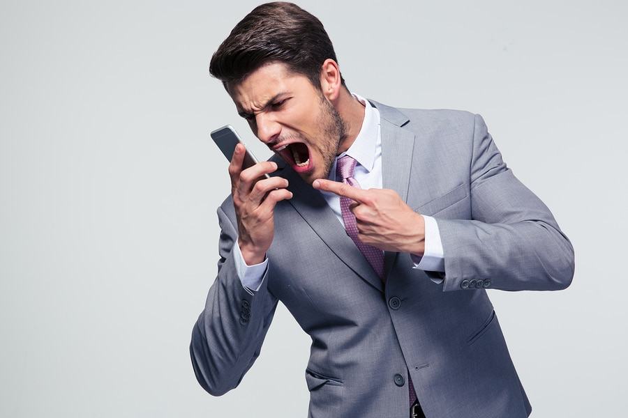 bigstock Angry businessman shouting on
