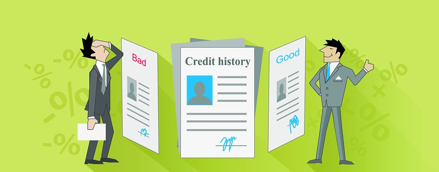 bigstock Credit History Bad and Good De