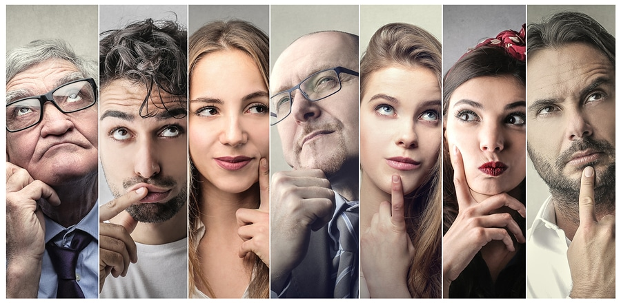 bigstock Portraits of people thinking