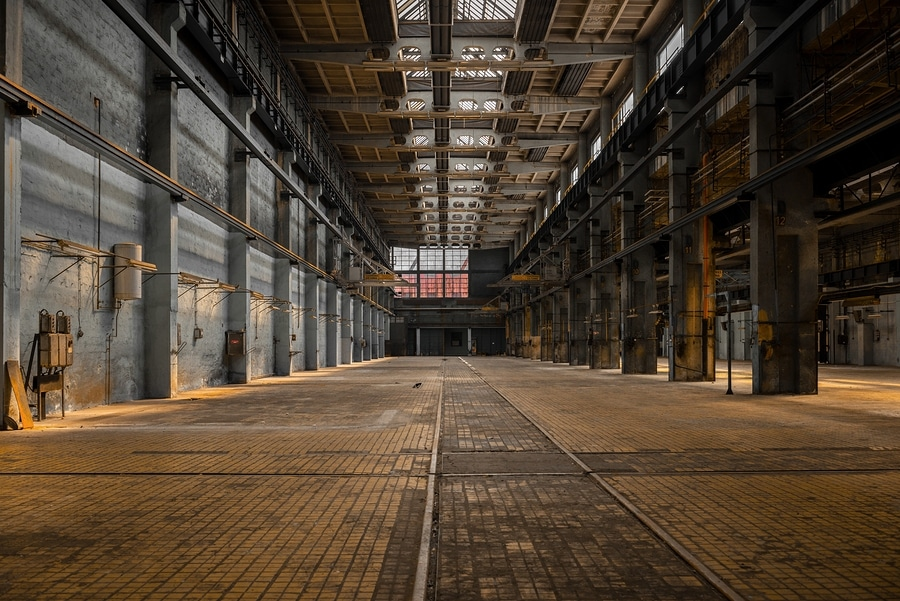 bigstock Large industrial hall of a rep