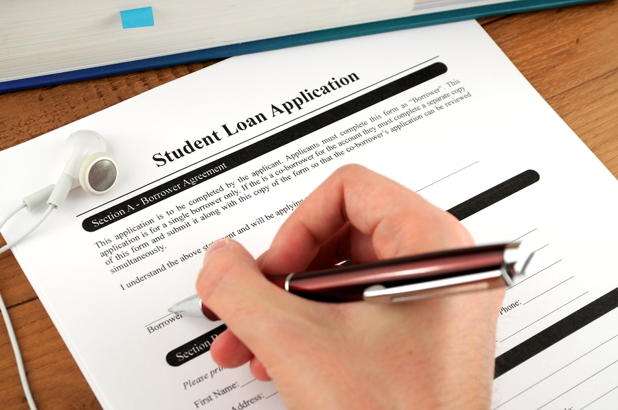bigstock Student Loan Application Signi