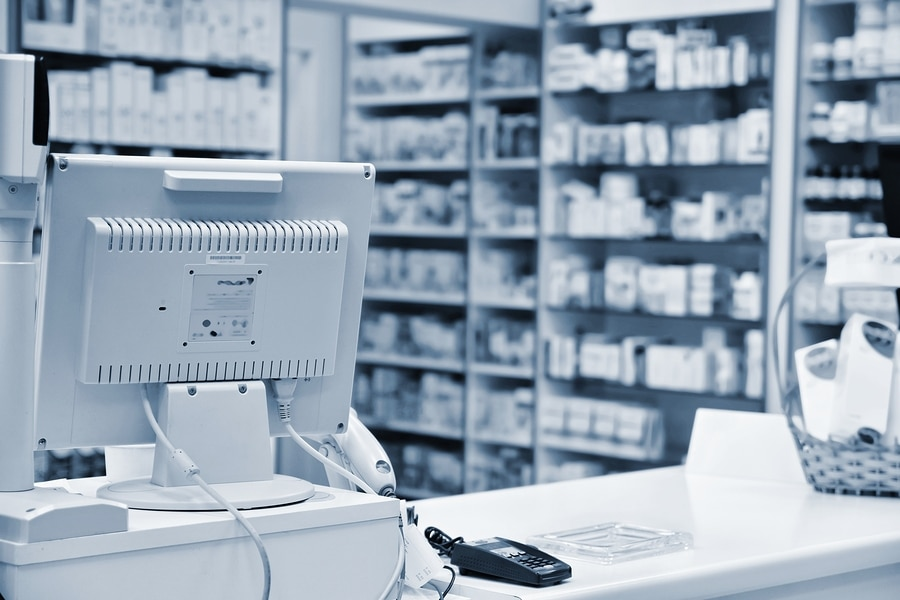 bigstock Checkout The Pharmacy Interio